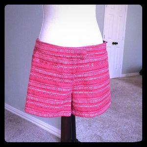 Red tweed Cynthia Rowley shorts